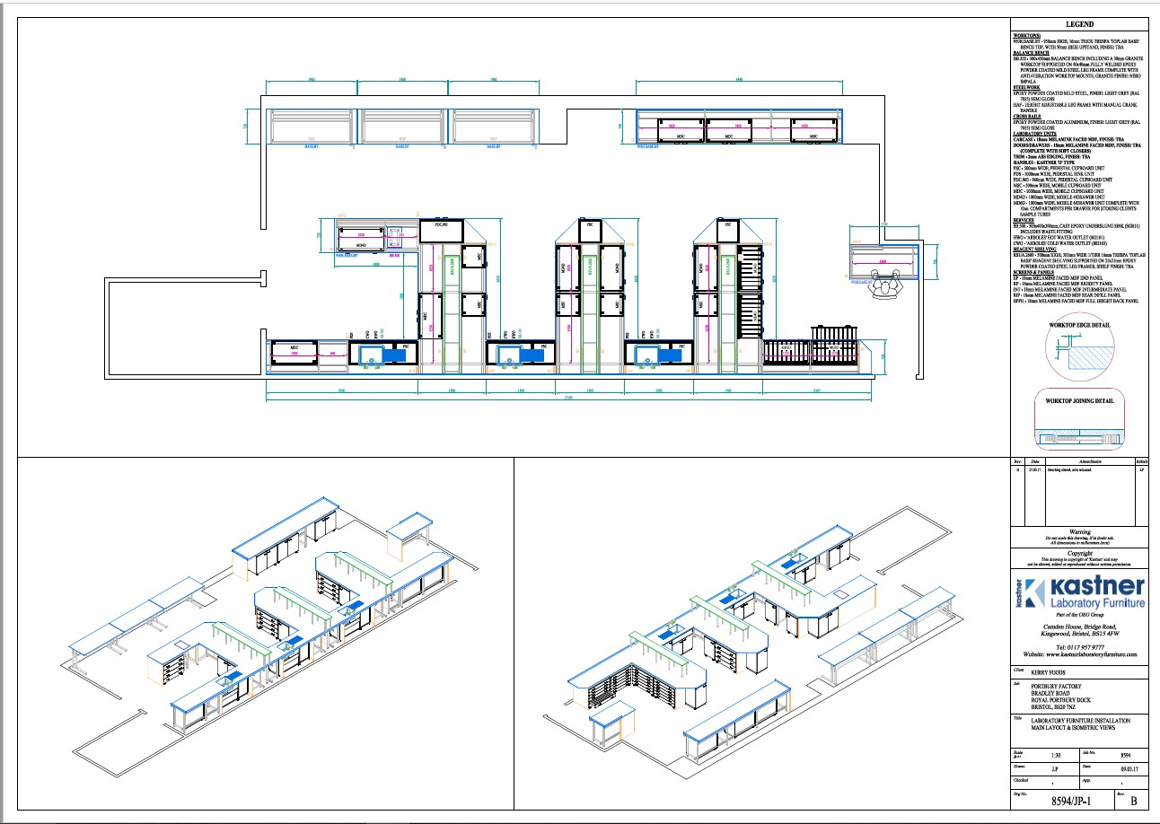 New laboratory design for Kerry Foods, Avonmouth